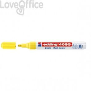 Pennarello per lavagna giallo Edding 4095 - A Gesso Liquido - Punta Tonda - 2-3 mm