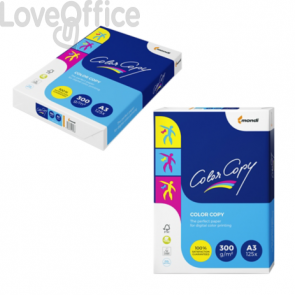 Risma carta A3 da 300 g/mq Color Copy