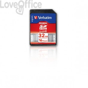 Flash Memory Card Verbatim - Sdhc Class 10 - 32 Gb - 43963