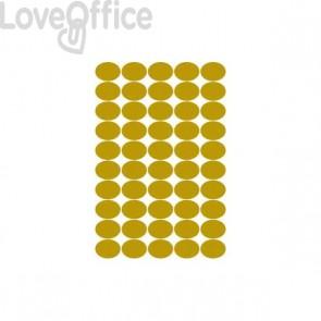 Etichette satinate oro ovali - 36x27 - Tico - GL4-3627 (5000)