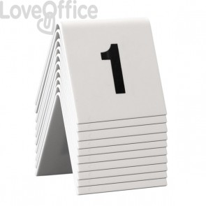 conf. 10 Segnaposto set da n° 1 a n° 10 Securit TN-1-10