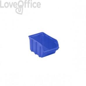 Contenitori Sovrapponibili Viso - Contenitore - Blu - 4 L - 15,3x23x12,5 cm - Tekni 3 B