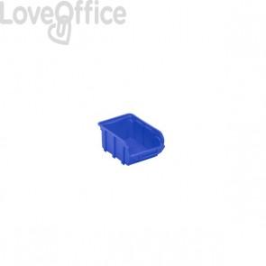 Contenitori Sovrapponibili Viso - Contenitore - Blu - 1 L - 10x16,5x8,2 cm - Tekni 2 B