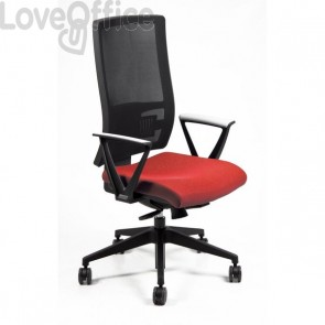 Sedia semidirezionale ergonomica NEREIDE UNISIT - polipropilene - ROSSO