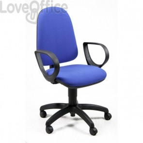 Sedia da ufficio eco-smart JUPITER UNISIT - polipropilene - Blu