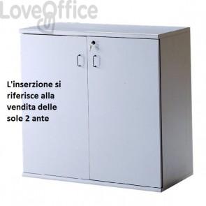 Coppia di ante per Mobile Venezia - Grigio - 45x1,8x85 cm (per Mobile BT7851)