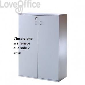 Coppia di ante per Mobile Venezia - Grigio - 45x1,8xh125 cm (per Mobile BT7863)
