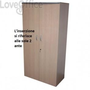 conf. 2 ante basse mobile a giorno Alessandria Unisit - 45x1,8x174 cm