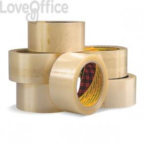Nastri da imballo Scotch® - silenzioso - PPL - 50 mm x 66 m - trasparente - 50 my - 28460 (conf.6)