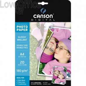 Canson Carta fotogagrafica per inkjet Glossy double side A4 180 g (conf. 20)
