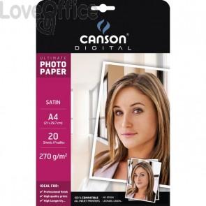 Canson Carta fotografica A4 per Inkjet satinata - 270g (conf. 20)