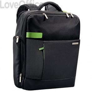 Zaino Smart Traveller Leitz Complete Per Pc  - 15x40x31 cm - Nero/Verde - 60170095