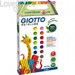 Astuccio Giotto Patplume - Classici E Fluo - 513100 (8x20 g + 1 coltellino)