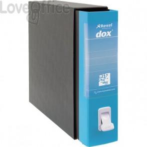 Registratore a leva Dox 2 - Protocollo - dorso 8 cm - 23x34 cm - Azzurro Capri - D26201