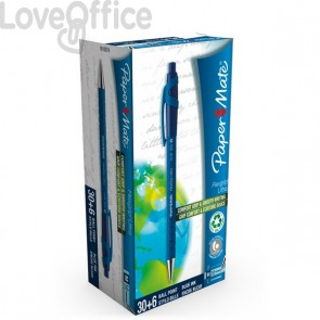 Penna A Sfera A Scatto Flexgrip Ultra Recycled  Papermate - Value Pack - Blu - 1910074 (Conf.36)