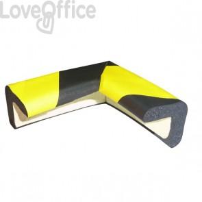 Protezioni Segnaletiche Viso - Rettangolare Angolare - Giallo/Nero - 3x3cm; L7x7 cm - Pu 30 Nj