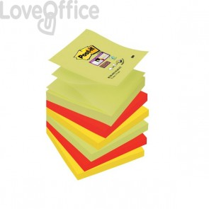 Ricariche Di Foglietti Post-It® Super Sticky Z-Notes Colorate - 76x76 mm - R330-Ss-Mar-Eu (conf.6 blocchetti da 90 fogli)