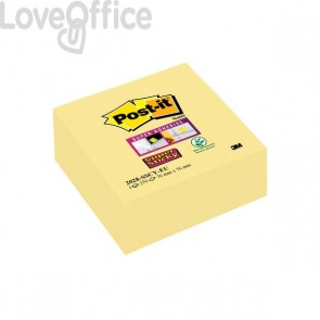 Foglietti Post-It® Super Sticky Giallo Canary™  - Cubo - 76x76 mm - Giallo Canary™ - 270 - 2028-Sscy-Eu