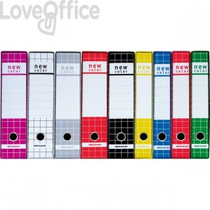 Registratore New Color Brefiocart - Protocollo - dorso 5 cm - 23x33 cm - Rosso - 0201183.Ro