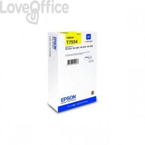 Originale Epson C13T755440 Cartuccia inkjet altissima resa T7554XL  giallo