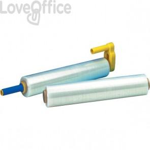 Film estensibile Syrom - per uso manuale - 50 cm x 300 m - trasparente - 20 micron - 1115