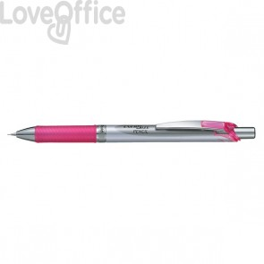 Portamine Energize Pentel - acciaio/rosa - 0,5 mm - PL75-PO