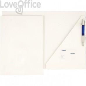 Cartelline con lembi ad incastro - 4company - presentazioni  - 300 g/mq - 23x32 cm - bianco (conf.10)