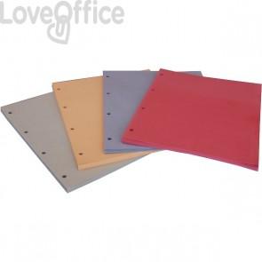 Divisori colorati in cartoncino Euro-cart - Rosso (conf.100)