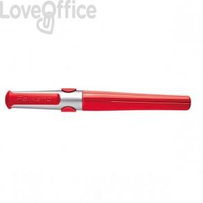 Penna Stilo Pelikano Pelikan - fusto rosso chiaro - x destrorsi - inchiostro blu - punta fine