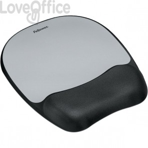 Mousepad con poggiapolso in schiuma viscoelastica Fellowes - 9175801