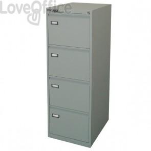 Classificatore Kubo - grigio - 4 cassetti - 47x62x132 cm - 4004