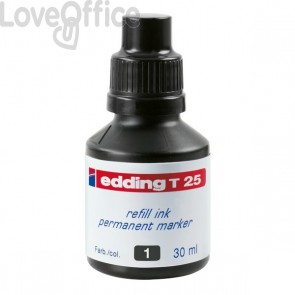 Inchiostro permanente per marcatori Edding - nero - 30 ml - 4-T25001