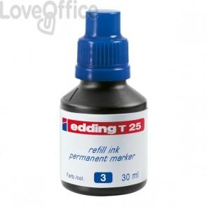 Inchiostro permanente per marcatori Edding - blu - 30 ml - 4-T25003