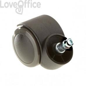 Ruote per sedie Unisit - Per parquet - nero/grigio - ACCRUG5 (conf.5)