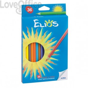 Pastelli colorati Elios Fila con astuccio - 2,8 mm - da 3 anni in poi (conf.36)