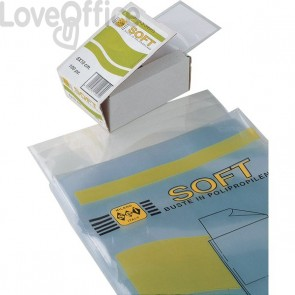 Buste trasparenti a U Soft Sei Rota - 11x16 cm - 651116 (conf.100)