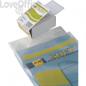 Buste trasparenti a U Soft Sei Rota - 11x21 cm - 651121 (conf.100)