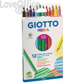 Pastelli colorati Giotto Mega - 5,5 mm - da 3 anni in poi (conf.12)