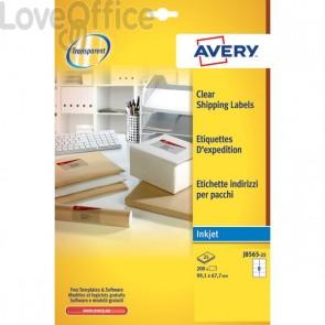 Etichette trasparenti QuickPEEL™ Avery - Inkjet - 99,1x67,7 mm - 8 et/ff - J8565-25 (conf.25)