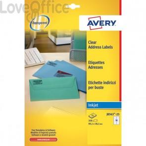 Etichette trasparenti QuickPEEL™ Avery - Inkjet - 99,1x38,1 mm - 14 et/ff - J8563-25 (conf.25)