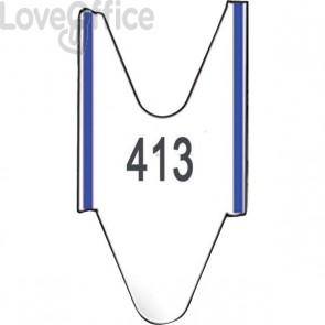 Rotoli Tagliandi per EliminaCode Printex - Blu - Tr/roll/blu - per display 2 cifre (conf.5)