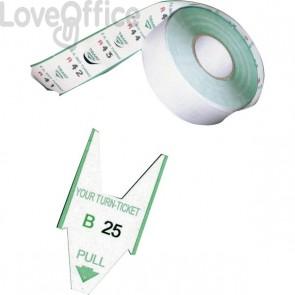 Rotoli Tagliandi per EliminaCode Printex - Verde - Tr/roll/ver - per display 2 cifre (conf.5)