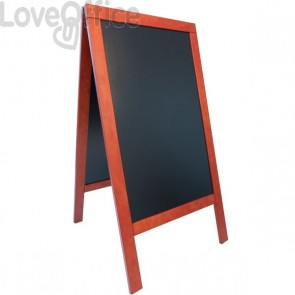 Lavagna Sandwich A-board Securit - 75x135 cm - mogano - SBS-M-135
