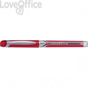 Roller V7 Grip Pilot - rosso - ad ago 0,7 mm - 006737