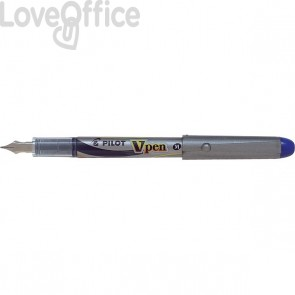 Penna Stilografica usa e getta - blu - media - V Pen Silver Pilot