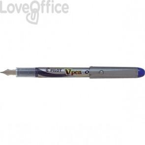 Penna Stilografica usa e getta - blu - media -  V Pen Silver Pilot