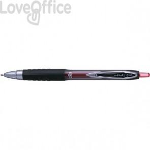 Penna a sfera gel Signo a scatto Uni-Ball - rosso - 0,7 mm - M UM207 R