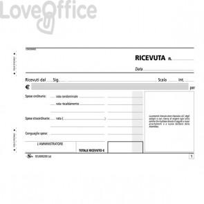 Blocco ricevute di condominio Semper Multiservice - carta chimica 3 parti con avviso - 33x3 - SEU000200