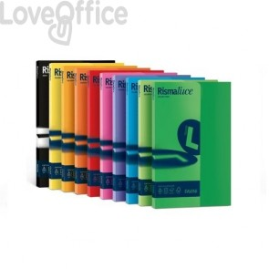 Risme cartoncini colorati - Rismaluce Favini Small - tinte forti - A4 - 200 g/mq - azzurro (risma50)