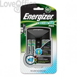 Caricabatterie ENERGIZER Pro Charger 2000mAh incluse 4 batterie Power Plus AA - E300696602